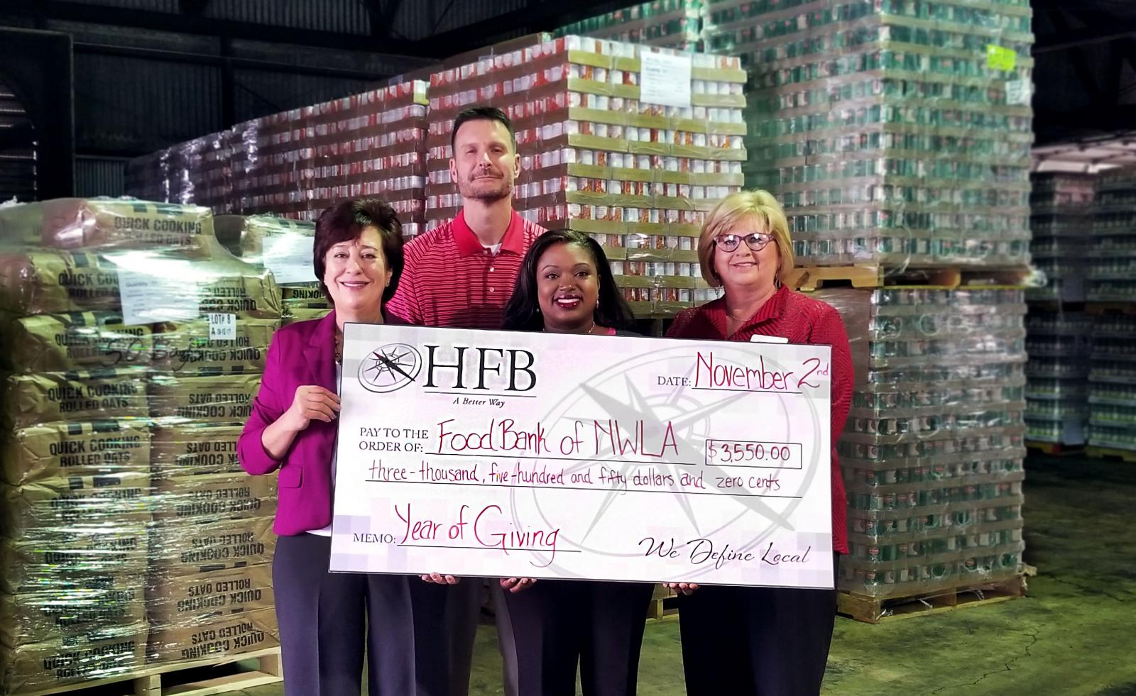 Home Federal Bank's Year of Giving 2017 Recipient, the Food Bank of Northwest Louisiana